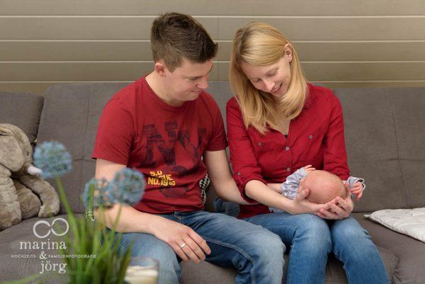 Babyfotografen Gießen - ungestellte Familienfotos und Babyfotos